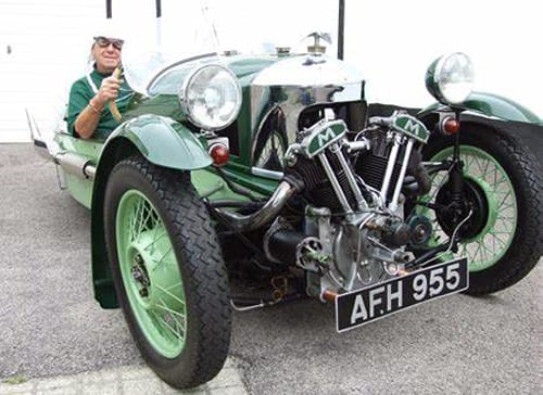 Morgan 1937 Matchless in two-tone green.
